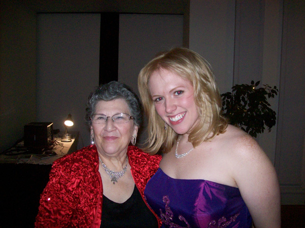 mezzo soprano stephanie witzorreck and board treasurer sylvia ewen